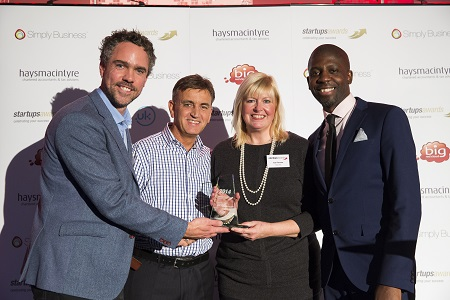Local start-up business collects national award