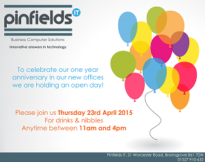 Pinfields IT celebrates 1 year in renovated offices