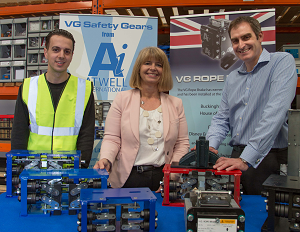 Booming Worcestershire lift component manufacturer hosts MP