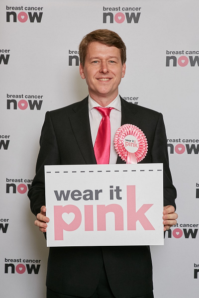Walker wears it pink in Worcester in aid of Breast Cancer Now