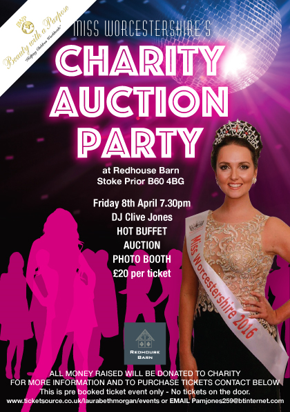 Charity Auction Party 8th April 7.30pm