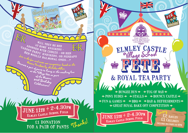 Elmley Castle Village School Fete & Royal Tea Party June 11 2016