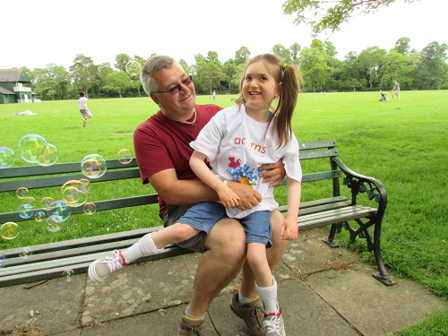 Dad Takes on the Bubbles for Worcester Hospice
