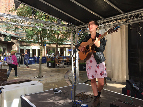 Local musicians:  all aboard at the Crowngate Busk Stop!