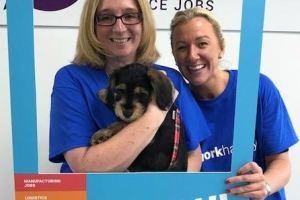 Worcester recruitment staff go to work with a smile for happiness week