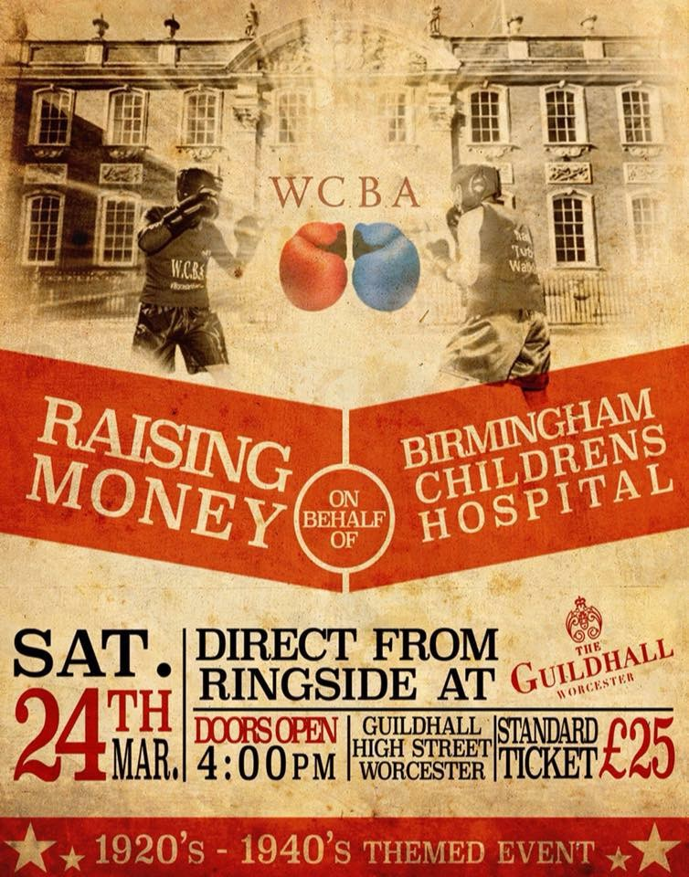 Worcester Charity Boxing Association Raising Funds at Guildhall Boxing Night
