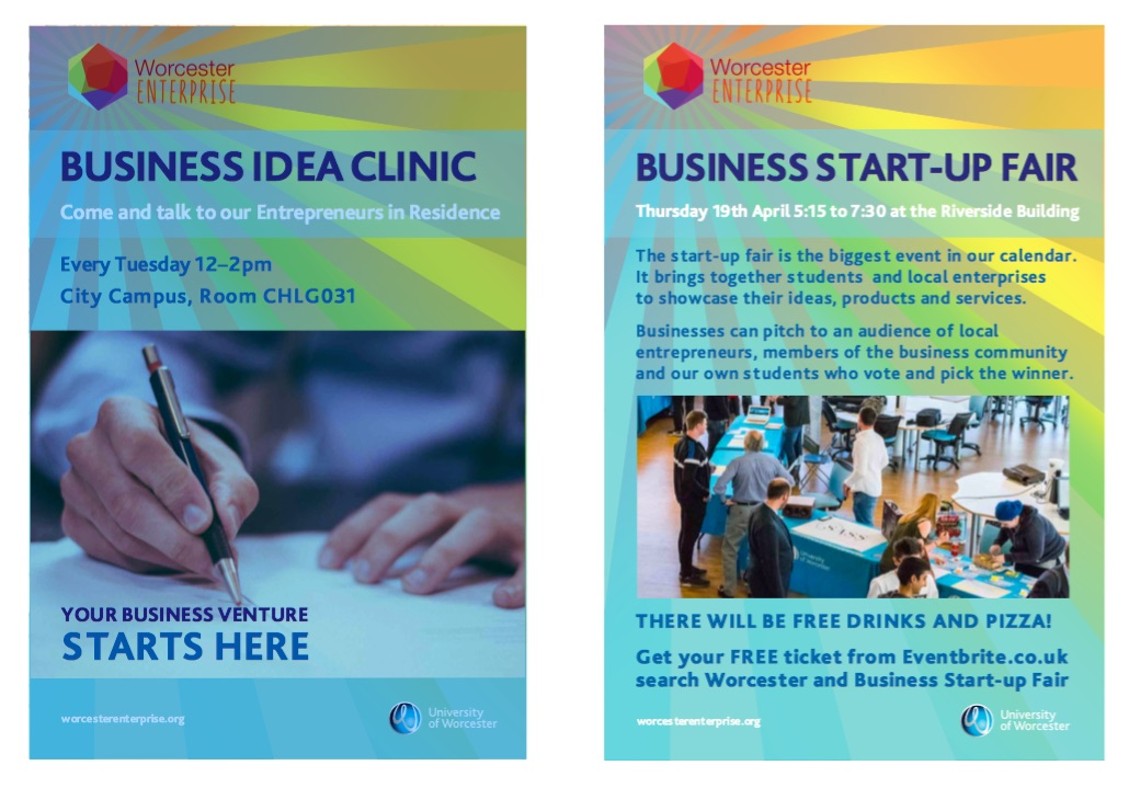 Business Startup Fair at the University of Worcester – 19th April 2018