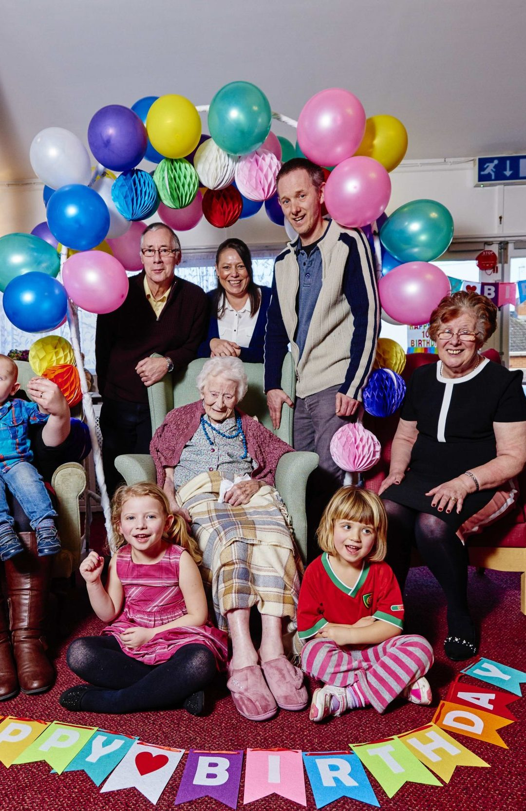 Stella celebrates 105th birthday at Worcester care home