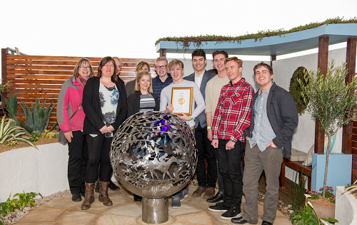 Pershore Students Scoop Gold Medal for Show Garden