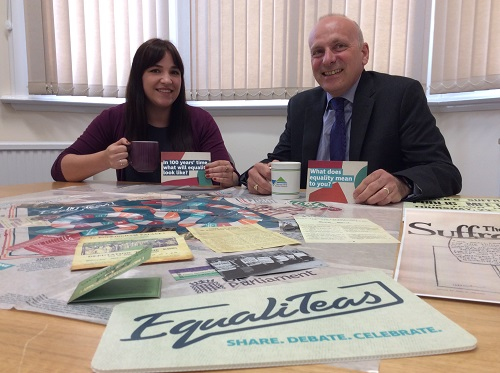 Mark votes for women with Equalitea