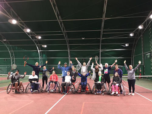 Pershore Tennis Centre's New Wheelchair Tennis Course