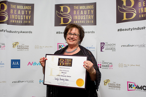 Spa Town Salon Wins 5 Star Midlands Beauty Industry Award