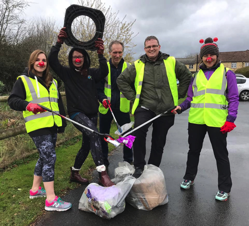 Council Staff go Plogging to Raise Funds for Red Nose Day