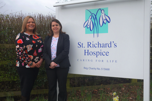 Law firm raises over £3,800 for Worcester's St Richard's Hospice