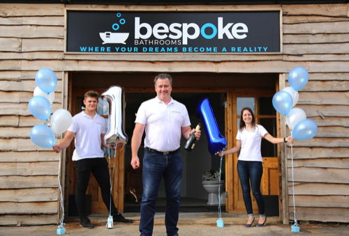 Pershore Based Bespoke Bathrooms are celebrating their 1st anniversary in business.