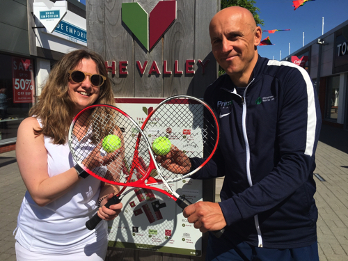 Pop-up tennis arrives at The Valley