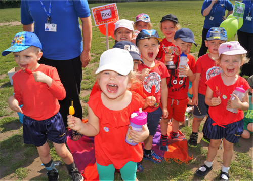 Nursery Children Enjoy First Competitive Sports Day Races