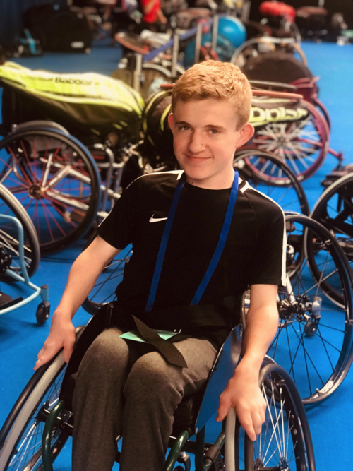 Wheelchair Tennis Star Competes in the British Open Wheelchair Tennis Tournament
