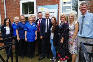 Sajid Javid Meets Patients and Bereavement Support Group at  Primrose Hospice