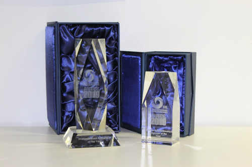 Prestigious Glass Trophies Unveiled for the Worcestershire Apprenticeships Awards 2019
