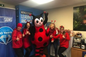 Dressing as Dotty the Ladybird is a Great Sign