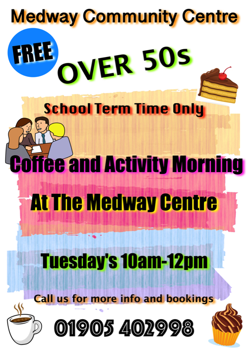 Over 50's FREE Coffee Morning at Medway Community Centre