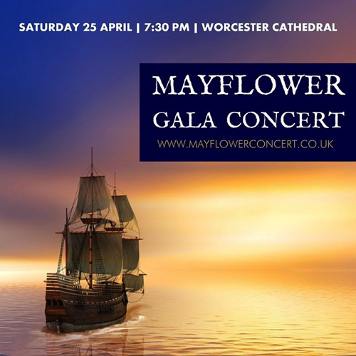City of Worcester Commemorates 'Mayflower 400' with Gala Concert – Saturday 25 April 2020