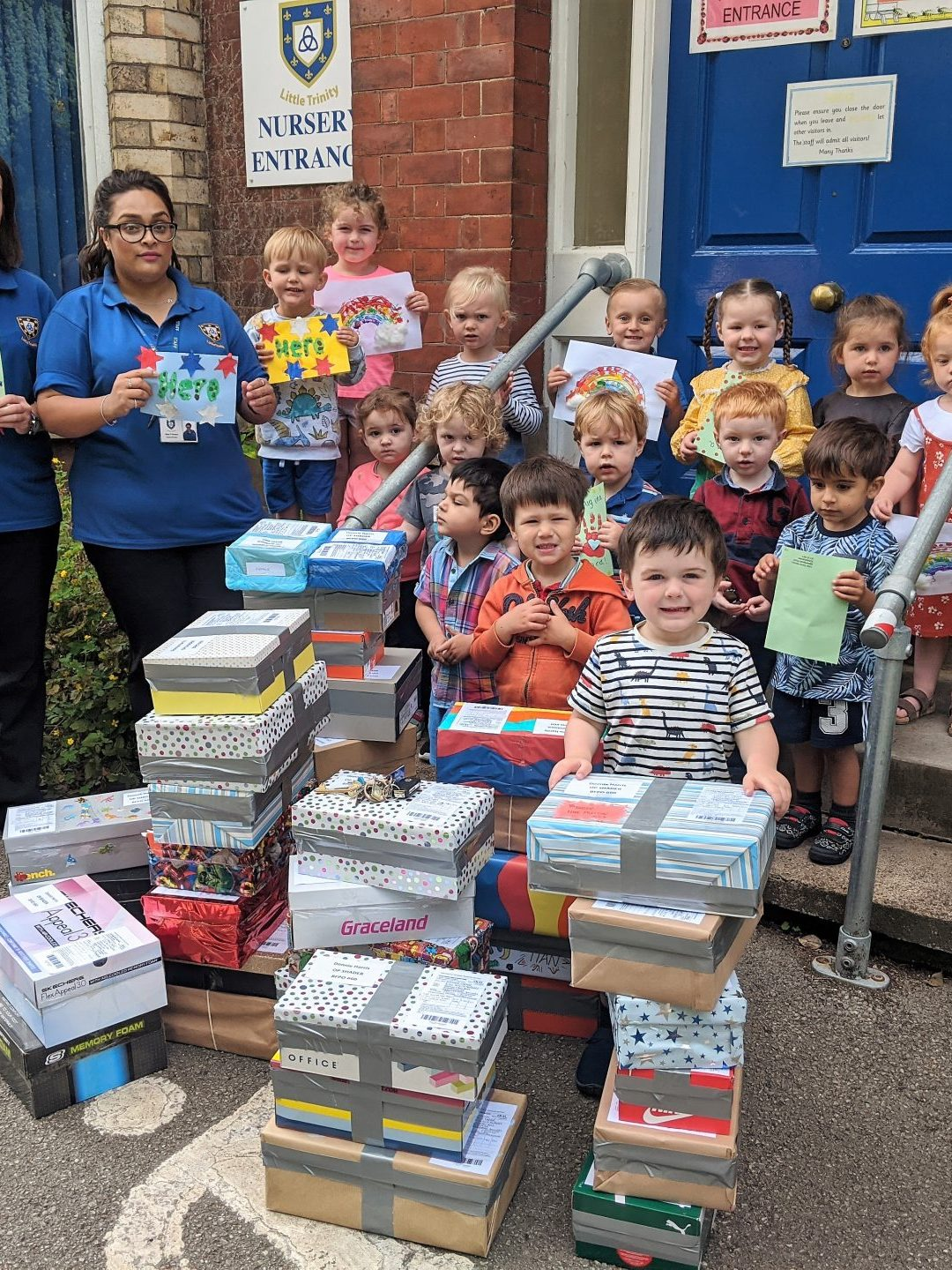 Nursery Children Send Care Packages to Armed Forces