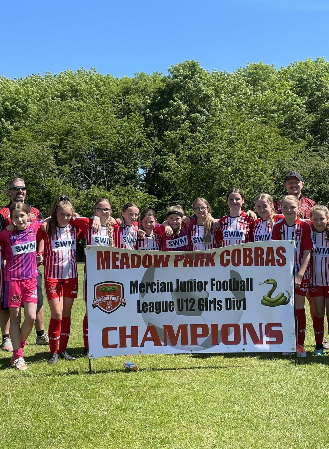Meadow Park Cobras Played Worcester City Girls, in Beautiful Sunshine on Sunday 13th for the U12's Girls Cup